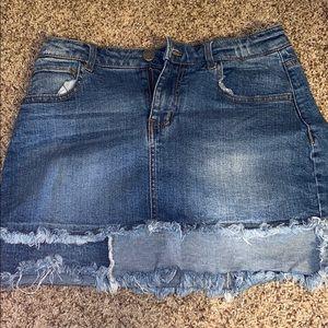 Multi Wash Jean Skirt